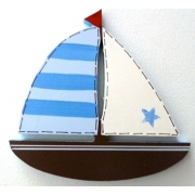 Artwork Hanger Set - Sailboat - Blue & ChocolateDisplay your child's pictures