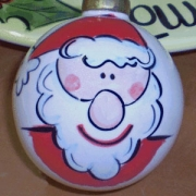 Bauble Christmas Handpainted Ceramic and Personalised Santa