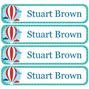 Personalised School LabelsUp & Away Pastel Blue - Labels Vinyl108 labelsfree shipping