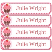 Personalised School LabelsCupcake Berry - Labels Vinyl108 labelsfree shipping