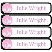 Personalised School LabelsCandlelight Black - Labels Vinyl108 labelsfree shipping