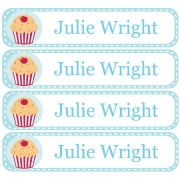 Personalised School LabelsCupcake Cherry - Labels Vinyl108 labelsfree shipping