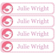 Personalised School LabelsDotty Bird - Labels Vinyl108 labelsfree shipping
