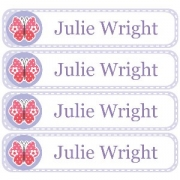 Personalised School LabelsDotty Butterfly - Labels Vinyl108 labelsfree shipping