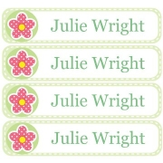 Personalised School LabelsDotty Flower - Labels Vinyl108 labelsfree shipping
