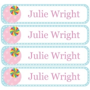 Personalised School LabelsSweet Tooth Blue - Labels Vinyl108 labelsfree shipping