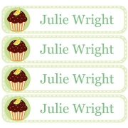Personalised School LabelsCupcake Tangy- Labels Vinyl108 labelsfree shipping