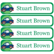 Personalised School LabelsTransport Green - Labels Vinyl108 labelsfree shipping