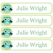 Personalised School LabelsOwl Winking - Labels Vinyl108 labelsfree shipping