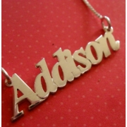 Name Necklace Typographic ScriptedAngel Font