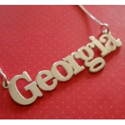 Name Necklace Typographic ScriptedBold Font
