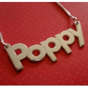 Name Necklace Typographic ScriptedArial Font