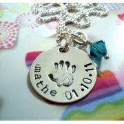 Little Hands Stamped Necklace