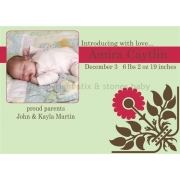 Christening Invitation 'Sweetpea'