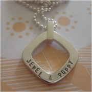 Swings and Roundabouts - Square Stamped Necklace