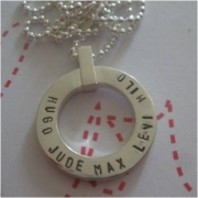Swings and Roundabouts - Circle Stamped Necklace