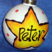Bauble Christmas Handpainted Ceramic & PersonalisedStar