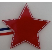 Artwork Hanger Set to display and organise your childs pictures - Star - Red
