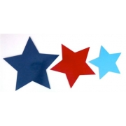 Wall Motif Set - Stars - Red, Navy & BluePainted
