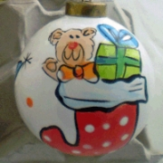 Bauble Christmas Handpainted Ceramic & PersonalisedStocking