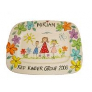 Handpainted Plate - Teacher with Flowers
