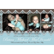 Christening Invitation 'Victorian Blue'