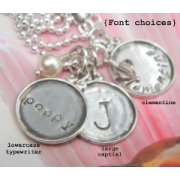 Vintage Circles - Stamped Necklace