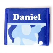 Wallet - Boys Personalised - Blue Camo