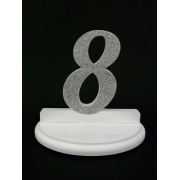 Wedding Table Numbers glitter