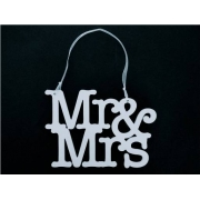 Wedding Sign / Hanger MR MRS (two lines)