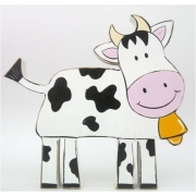 Wooden Block Freestanding cow