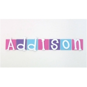 Wooden Wall Letters LARGE Square Letter Plaques for kids name