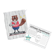 Tooth Fairy Bag Personalised for Kids - Beaver