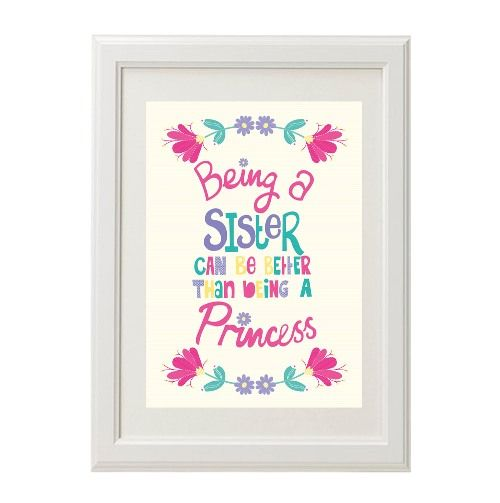 Wall Art Quotes For Sisters : Stix and stones baby personalised wall art print for
