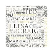 Our Wedding Day Personalised Custom Made Typography Print Bus Scroll Perfect for Wall Art or Reception Entry (White Design)