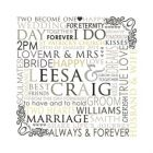 wedding canvas personalised typography print
