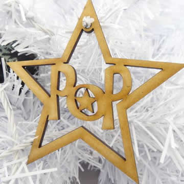 Christmas Decoration Personalised Wooden Mdf Christmas Star Decoration
